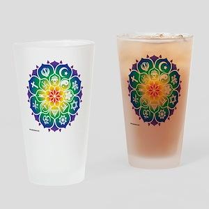 Religions_Mandala_10x10_apparel Drinking Glass