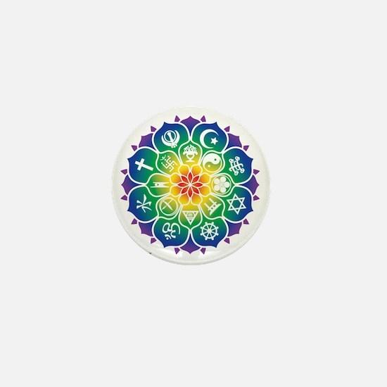 Religions_Mandala_10x10_apparel Mini Button