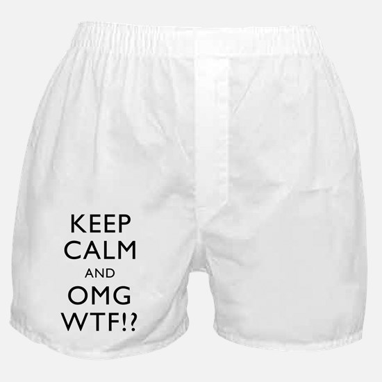 Keep Calm And OMG WFT Boxer Shorts