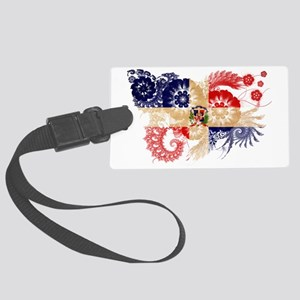 Dominican Republic textured flow Large Luggage Tag
