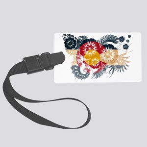 Colorado textured flower Large Luggage Tag
