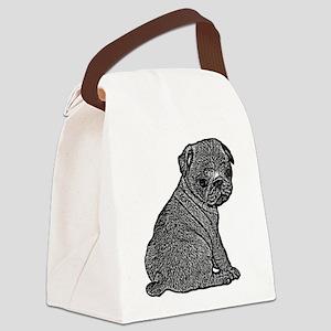 B@W Pug Canvas Lunch Bag