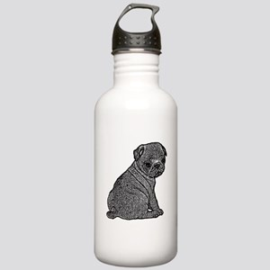 B@W Pug Stainless Water Bottle 1.0L