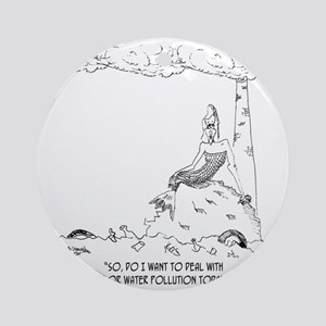 1127_pollution_cartoon Round Ornament