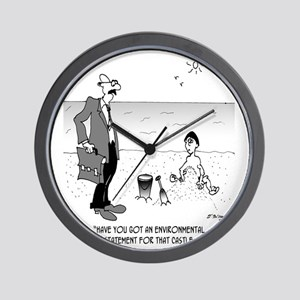 6131_beach_cartoon Wall Clock