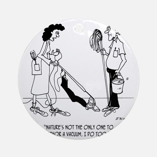 4873_cleaning_cartoon Round Ornament