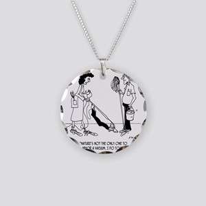 4873_cleaning_cartoon Necklace Circle Charm