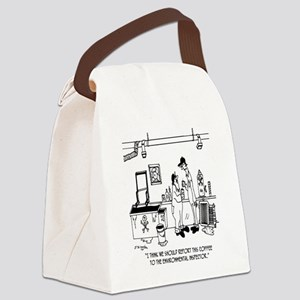7267_coffee_cartoon Canvas Lunch Bag