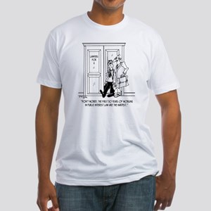 7263_public_interest_toon Fitted T-Shirt