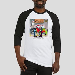 8644_electric_car_cartoon Baseball Jersey