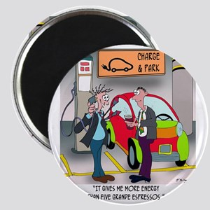 8644_electric_car_cartoon Magnet