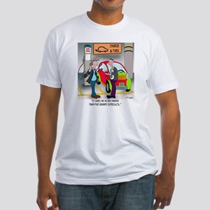 8644_electric_car_cartoon Fitted T-Shirt
