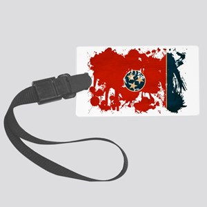 tennessee textured splatter Large Luggage Tag