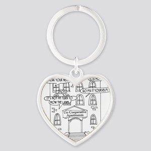 6178_apartment_cartoon Heart Keychain