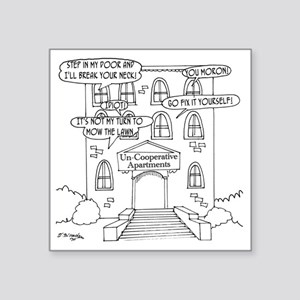 "6178_apartment_cartoon Square Sticker 3"" x 3"""