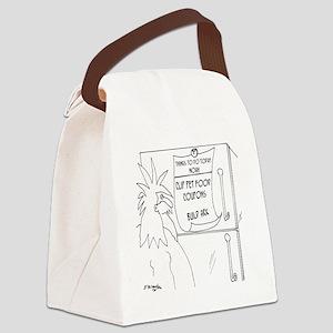 6111_noah_cartoon Canvas Lunch Bag