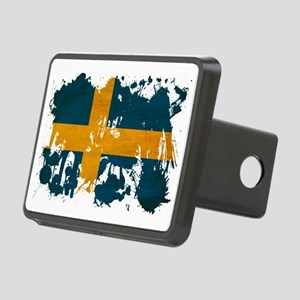 Sweden textured splatter c Rectangular Hitch Cover