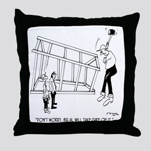 6165_builder_cartoon_KK Throw Pillow