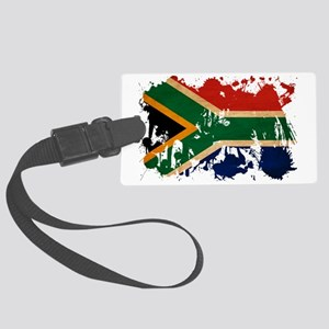South Africa textured splatter c Large Luggage Tag