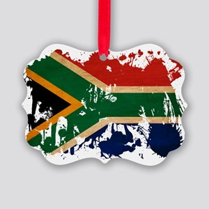 South Africa textured splatter co Picture Ornament