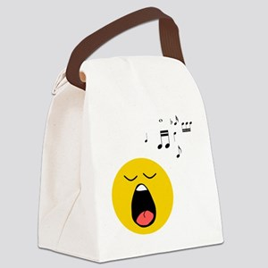 Singing Smiley Canvas Lunch Bag