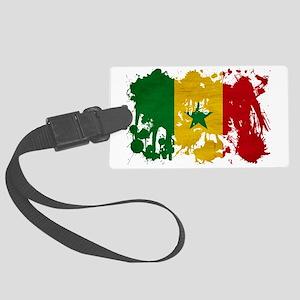 Senegal textured splatter copy Large Luggage Tag