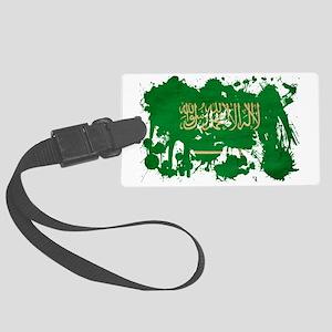 Saudi Arabia textured splatter c Large Luggage Tag