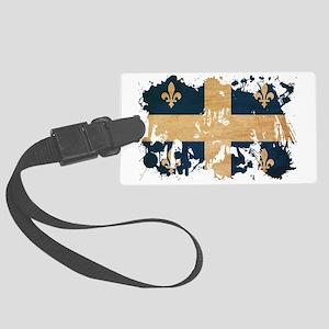 Quebec textured splatter copy Large Luggage Tag