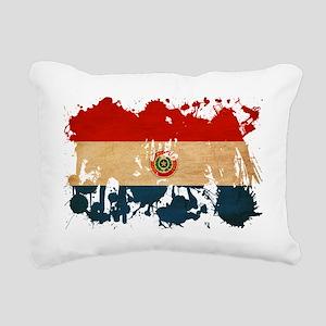 Paraguay textured splatt Rectangular Canvas Pillow
