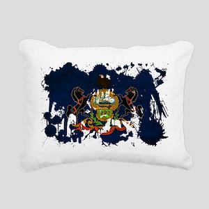 Pennsylvania textured sp Rectangular Canvas Pillow