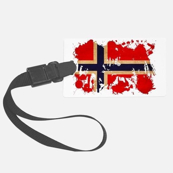 Norway textured splatter copy Luggage Tag