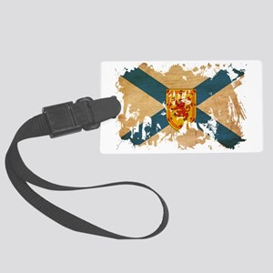 Nova Scotia textured splatter co Large Luggage Tag