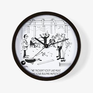 6368_inspection_cartoon Wall Clock