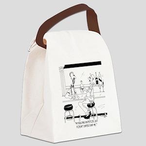 6376_inspector_cartoon Canvas Lunch Bag