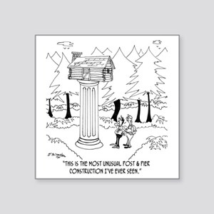 "6369_construction_cartoon Square Sticker 3"" x 3"""