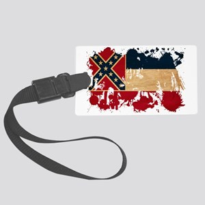 Mississippi textured splatter co Large Luggage Tag