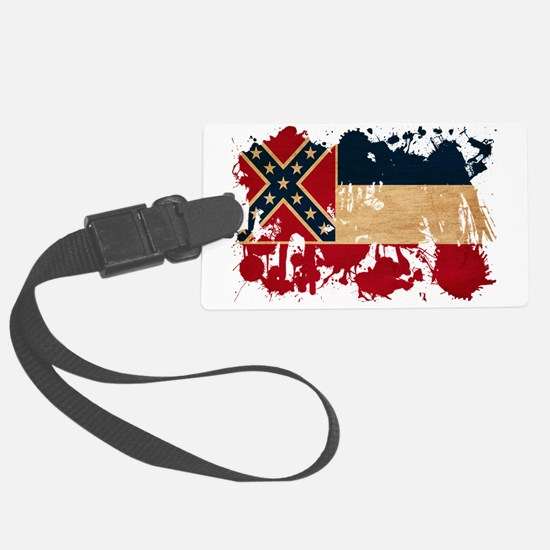 Mississippi textured splatter co Luggage Tag