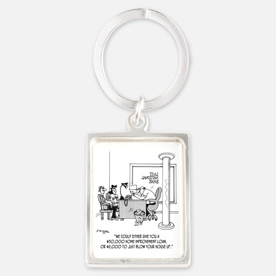 6110_loan_cartoon Portrait Keychain