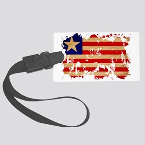 Liberia textured splatter copy Large Luggage Tag