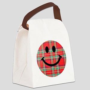 Scottish Tartan Smiley Canvas Lunch Bag