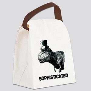 Trex_sophisticated copy Canvas Lunch Bag