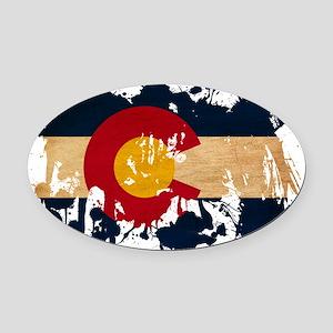 Colorado textured splatter copy Oval Car Magnet