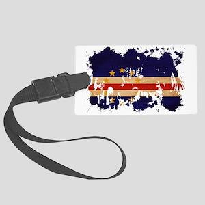 Cape Verde textured splatter cop Large Luggage Tag