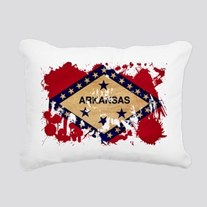 Arkansas textured splatt Rectangular Canvas Pillow