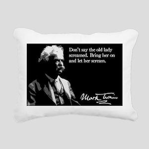 19MarkTwain Rectangular Canvas Pillow