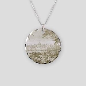 Bayon7100 Necklace Circle Charm