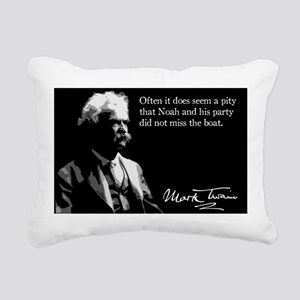 43MarkTwain Rectangular Canvas Pillow