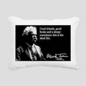 44MarkTwain Rectangular Canvas Pillow