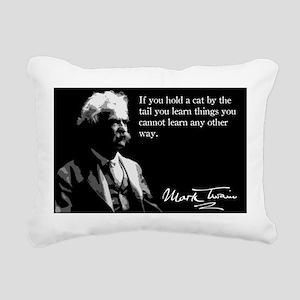 58MarkTwain Rectangular Canvas Pillow