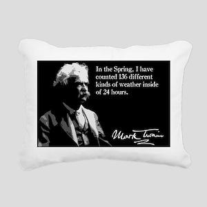 64MarkTwain Rectangular Canvas Pillow